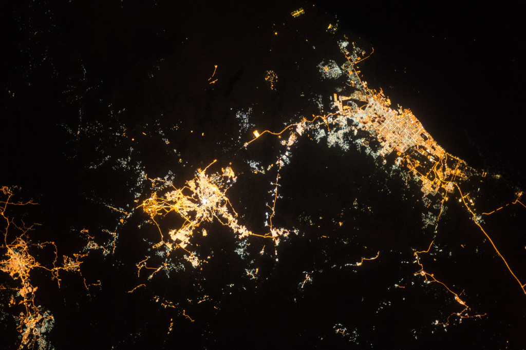 ISS 42 Taif, Mecca And Jeddah At Night