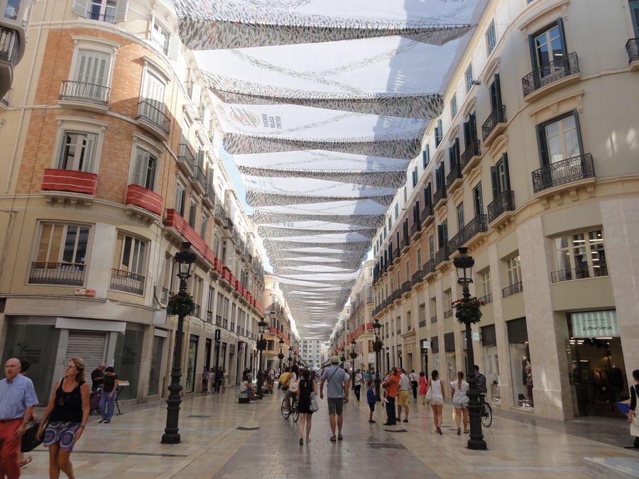 Rue du centre de Malaga