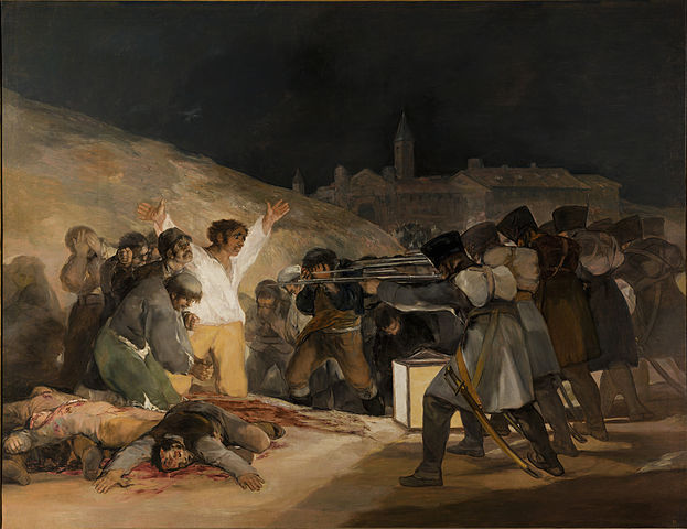 623px El Tres de Mayo, by Francisco de Goya, from Prado in Google Earth