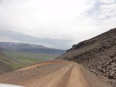 Route en terre d'Islande