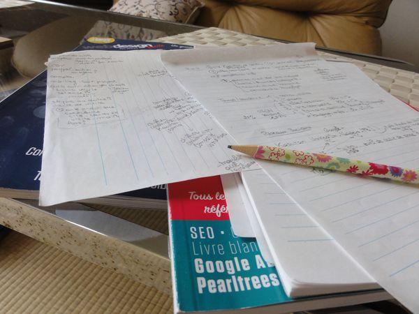 Notes de travail