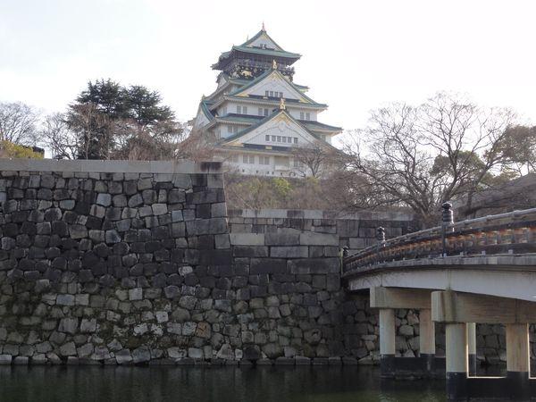 Château d'Osaka et douves
