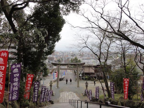 Escalier qui mène au temple