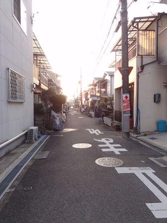Rue d'une zone résidentielle