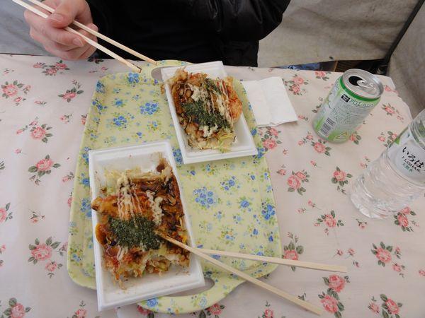 Assiettes d'okonomiyaki