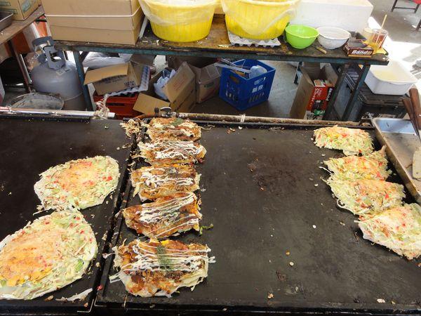 Cuisson des okonomiyaki