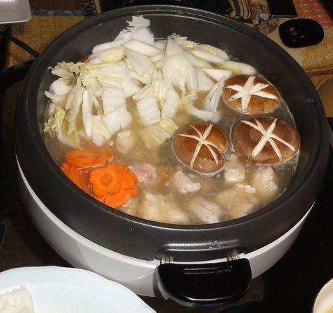 Chankonabe en cours de cuisson