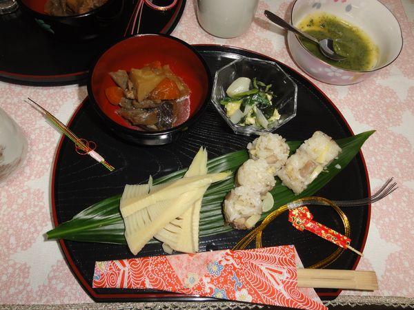 Repas de printemps aux pousses de bambou