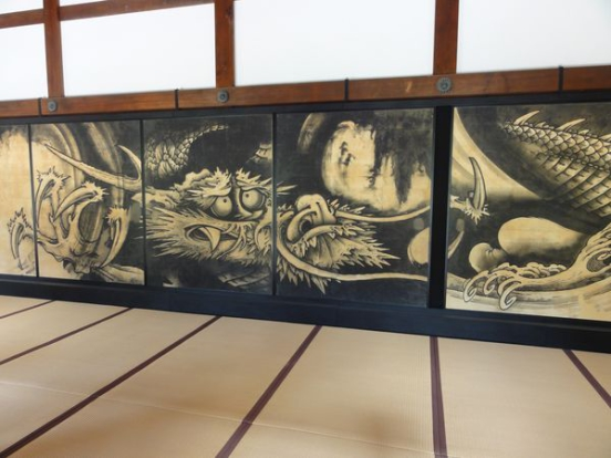 Peinture de dragon du temple Tenryu-ji à Kyoto