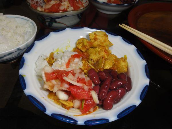Cari poulet préparé au Japon