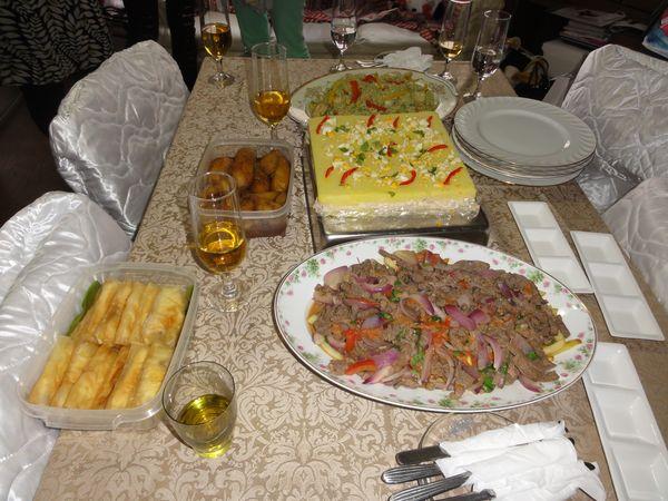 Repas péruvien préparé au Japon