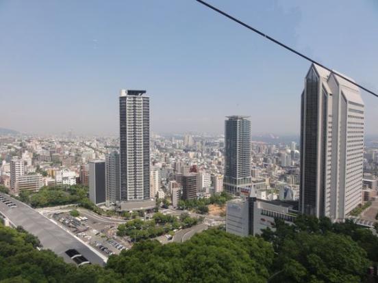 Vue sur Kobe depuis les jardins Nunobiki