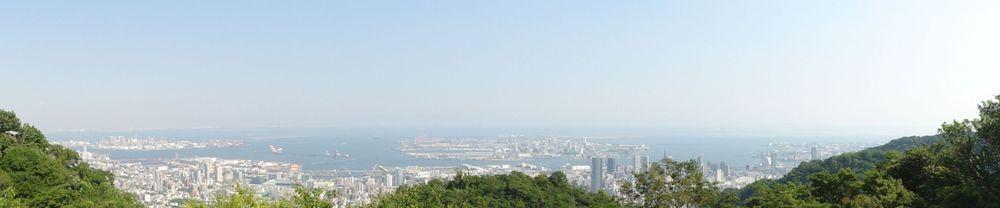 Vue panoramique sur Kobe depuis les jardins Nunobiki