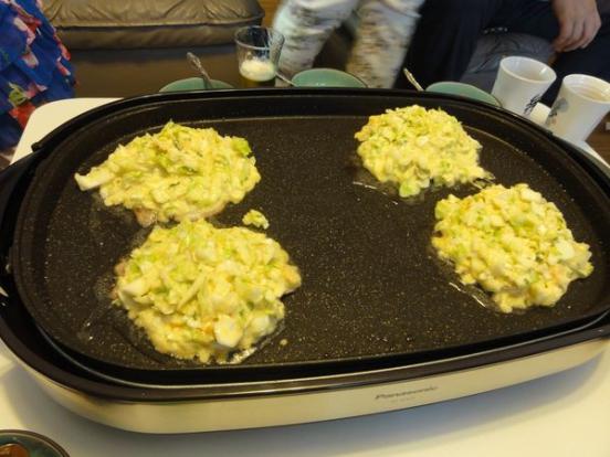 Okonomiyaki cuisiné à la maison