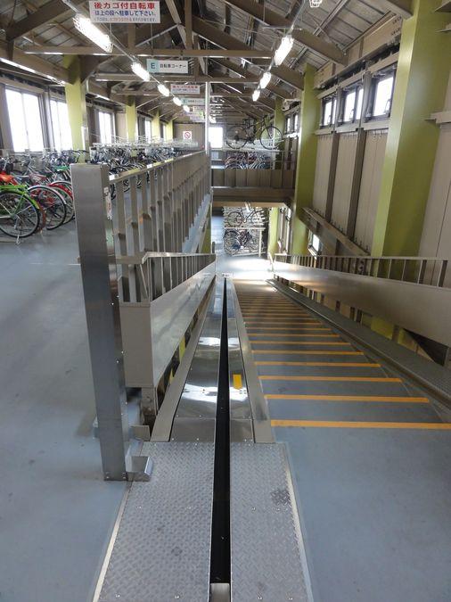 Parkin à vélo avec tapis roulant pour vélo