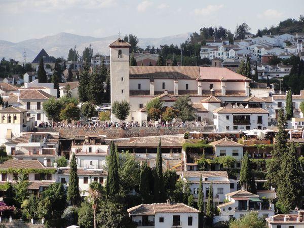 Vue de l'Albaicin depuis l'Alhambra
