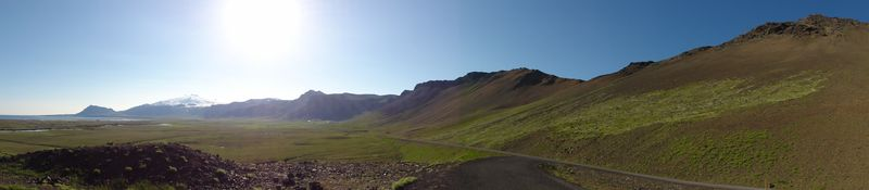 Paysage de Snaefellsnes en Islande