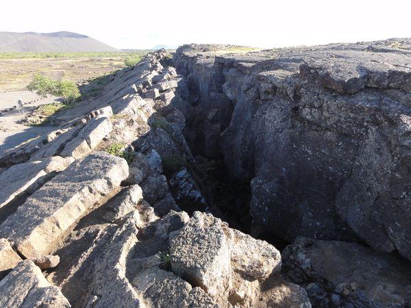 Faille géologique en islande