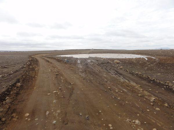 Route inondée en Islande