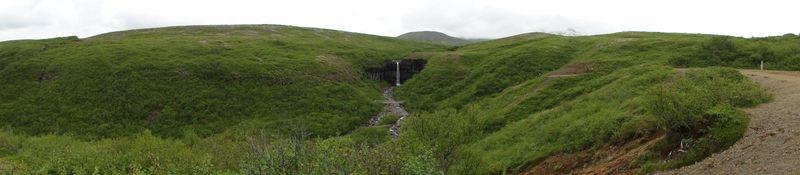 Cascade de Skaftafel en Islande