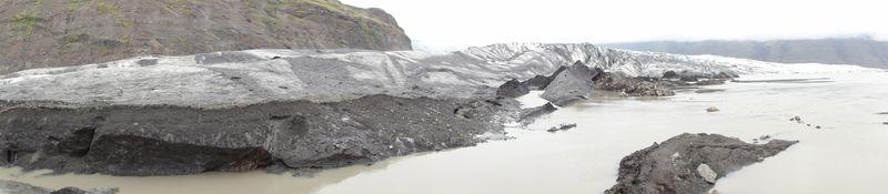 Glacier à Skaftafel en Islande