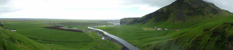 Cascade de Skogafoss en Islande