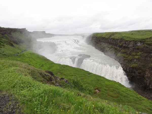 Cascade de Gullfoss en Islande