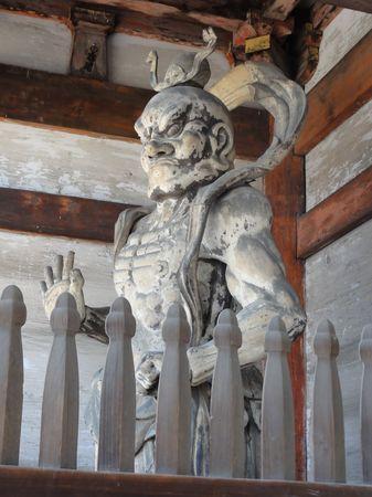 Gardien du temple, annexe du Kinkaku-ji, Kyoto