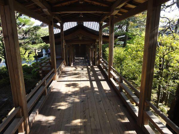 Passage couvert, temple Ninnaji, Kyoto