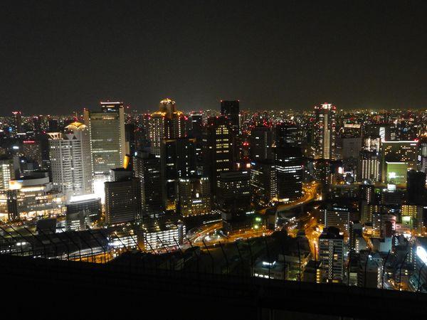 Osaka vue de nuit, depuis l'Umeda Sky building