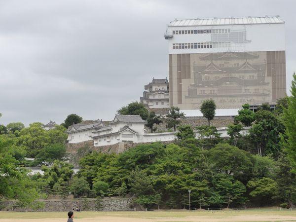Château d'Himeji en travaux