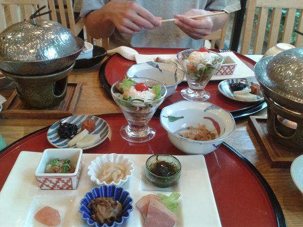 Petit déjeuner gastronomique japonais à Miyajima