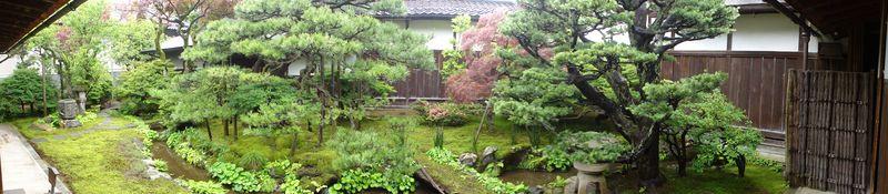 Jardin d'une maison de samouraï à Kanazawa