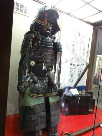Armure dans le château de Matsumoto