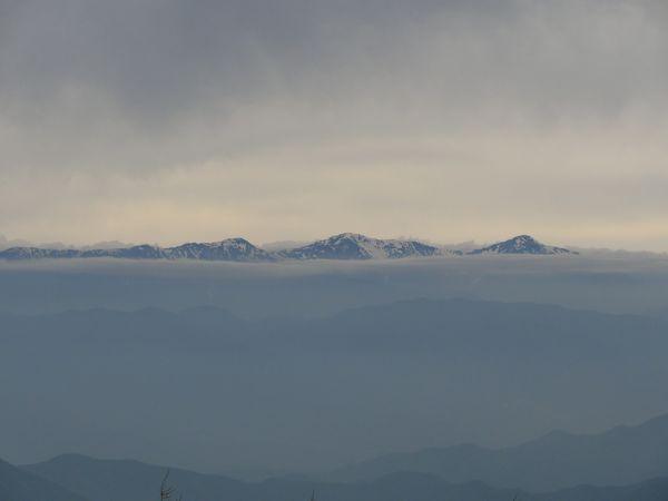 Vue des alpes japonaises depuis le Mont Fuji