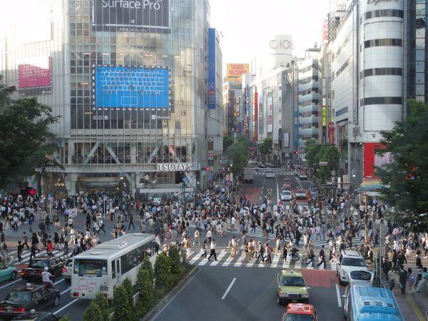 Carrefour de Shibuya, à Tokyo