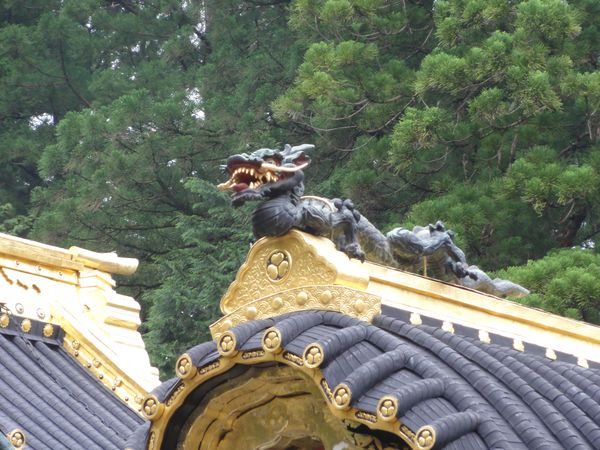 Dragon décorant un temple à Nikko