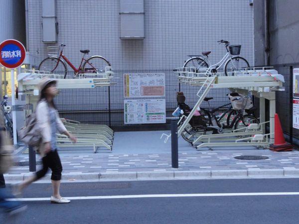 Garage à vélos sur deux étages