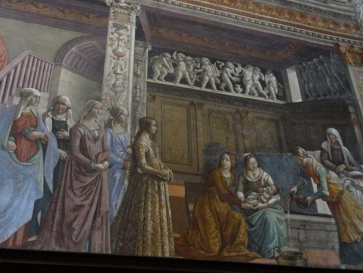 Fresque de la nativité de Marie, Eglise Santa Maria Novella, Florence